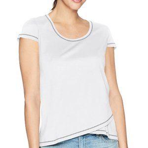 Women's short sleeve cross hem top